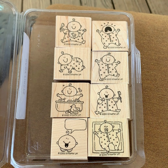 "Stampin' Up 8 piece ""Baby Firsts ""stamp collection"